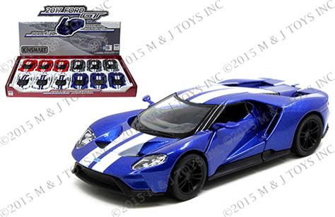 Diecast Car Kinsmart 2017 Ford Gt Stripe White 1 32 New Mib Sni kinsmart 1 38 display 2017 ford gt with stripes mj