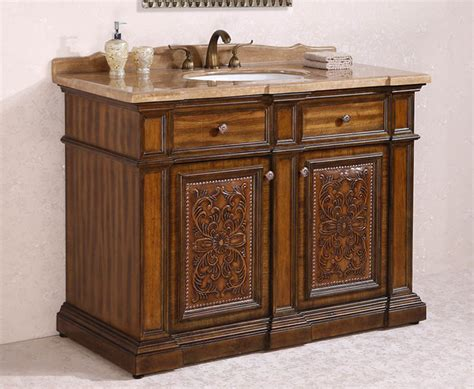 ornate and antique bathroom vanities traditional