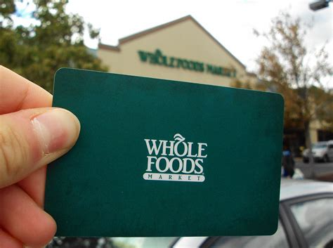 Food Gift Card - whole foods markets makes their gift cards more eco friendly greener ideal