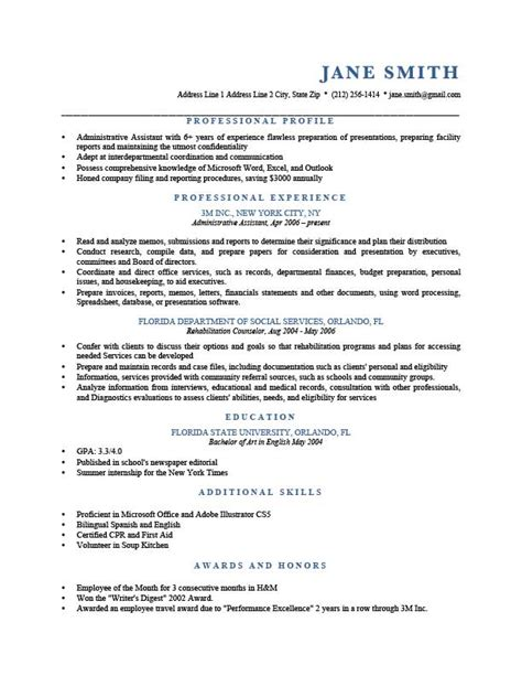 Profile For A Resume Exles by How To Write A Professional Profile Resume Genius