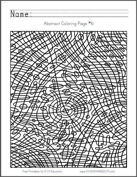 abstract coloring pages pdf click here to print this coloring sheet fyi look closely