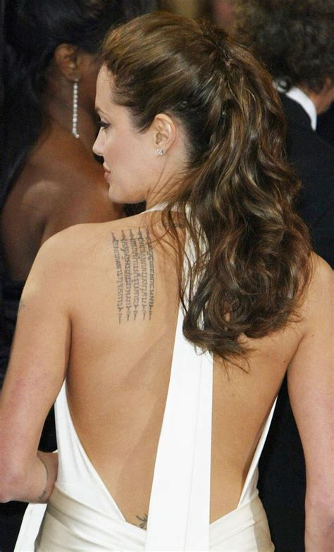 angelina jolie binary tattoo angelina jolie tattoos google search i really love