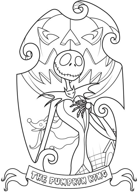 skellington coloring pages skellington the nightmare before