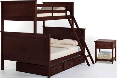 school bunk bed school house cherry bunk bed with trundle