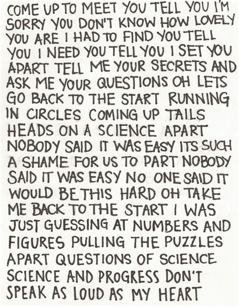 coldplay oh i oh i best 25 the scientist ideas on pinterest coldplay the