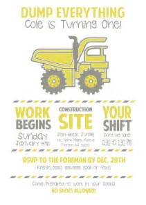 custom boy dump truck birthday invitations construction birthday made to