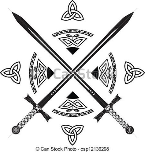 celtic swords eps vectors search clip art illustration