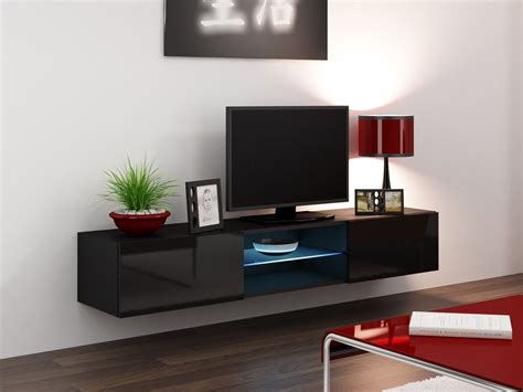 luxury wall mounted modern tv cabinets in black with glass seattle 43 tv stands concept muebles