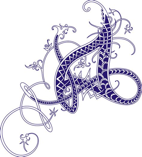 art and design address image vectorielle gratuite celtic calligraphie lettre