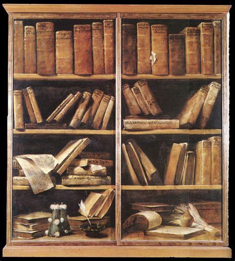 painting in the books file giuseppe crespi bookshelves wga05755 jpg