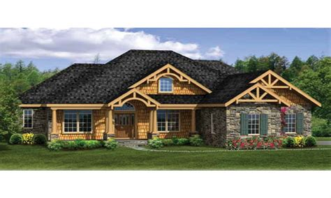 craftsman home plan craftsman house plans with walkout basement modern