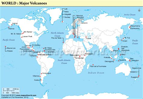 map of volcanoes in america josh 3