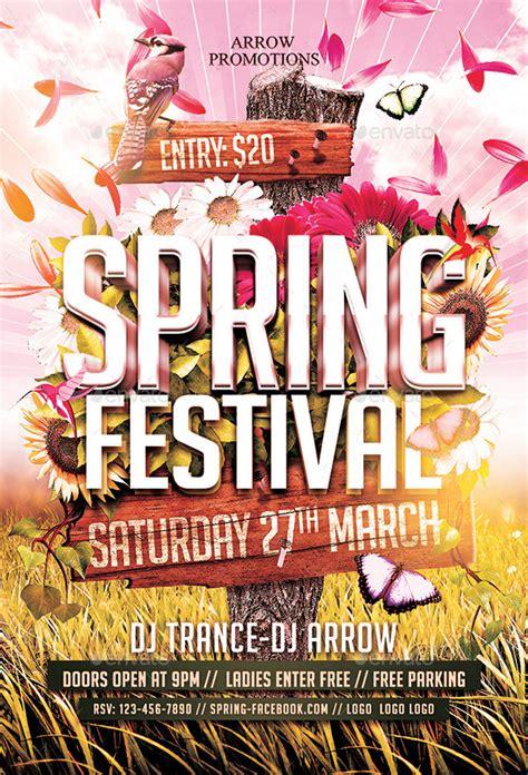 spring festival flyer template  arrow graphicriver