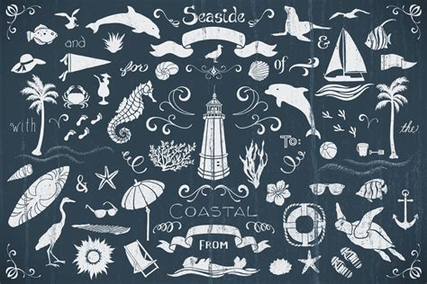 nautical pattern vector seaside nautical vector pack volume 1 design panoply