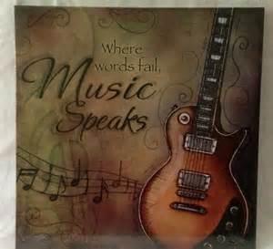 Music Home Decor Media Theatre Room Music Canvas Guitar Picture Home Decor
