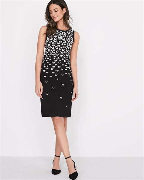 Sleeveless Jacquard Dress fitted sleeveless jacquard knit dress rw co