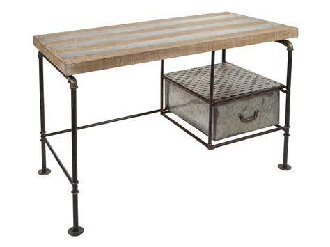 escritorio hierro y madera mesa escritorio industrial hierro y madera pupitre