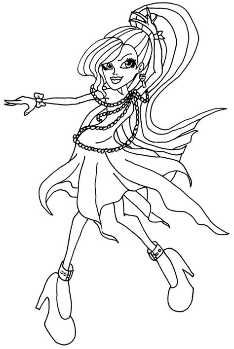 coloring pages for monster high dolls free printable monster high coloring pages for kids