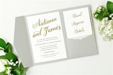 pocket wedding invitation templates pocket wedding invitation template instant