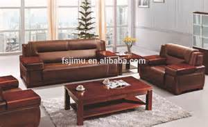office furniture design leather wooden base sofa