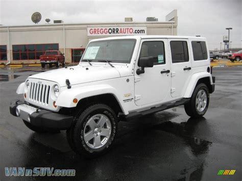 jeep sahara white 2011 jeep wrangler unlimited sahara 4x4 in bright white