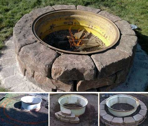 home made firepit 38 easy and diy pit ideas amazing diy interior