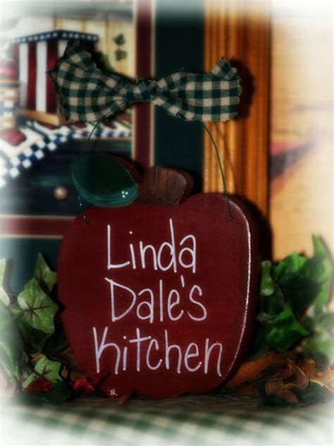 items similar  apple personalized kitchen apples sign