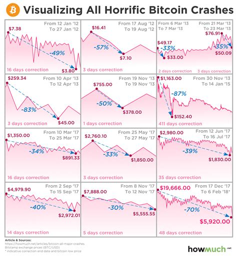 bitcoin crash the history of bitcoin crashes are hodlers prepared for