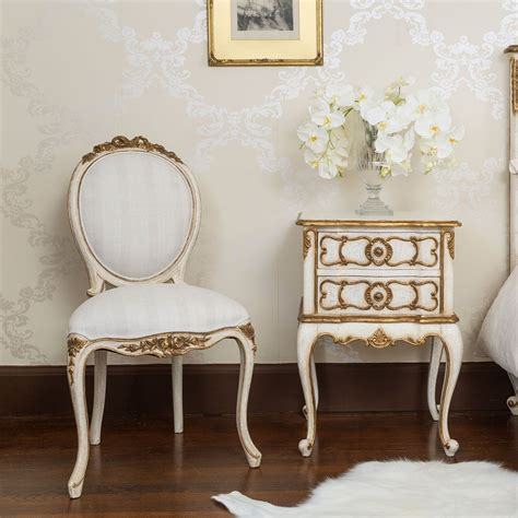 the french bedroom company palais french ivory and gold chair french bedroom company