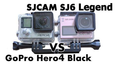 Sjcam Vs Gopro sjcam sj6 legend 2k vs gopro hero4 black edition 2 7k