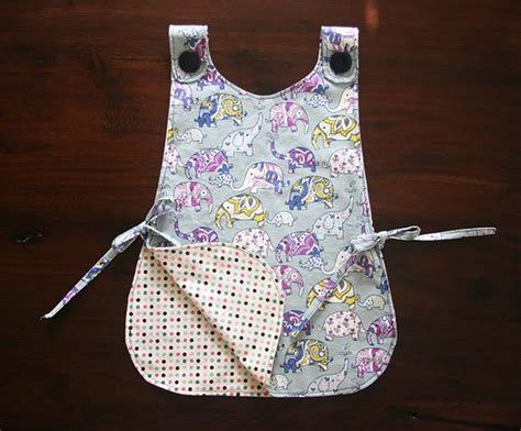 free pattern smock apron sewing patterns kids apron and for kids on pinterest
