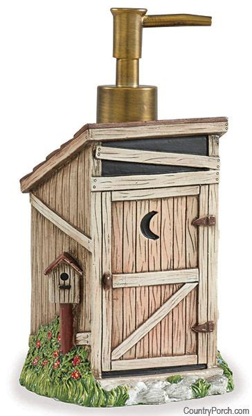 Outhouse Bathroom Accessories Outhouse Soap Dispenser Out House Bath Decor Soaps Home And Accessories