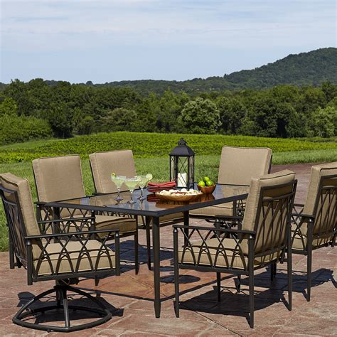 Sears Patio Dining Sets La Z Boy Outdoor Dqun 7pc Quinn 7 Dining Set Limited Availability Sears Outlet