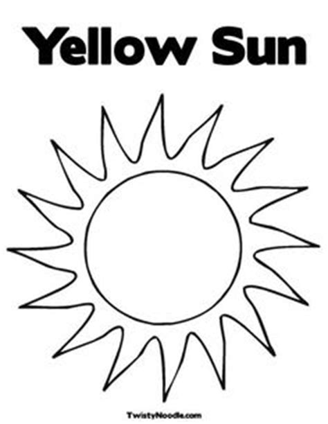 Sun Coloring Pages For Toddlers by 1000 Images About Color Yellow On Coloring