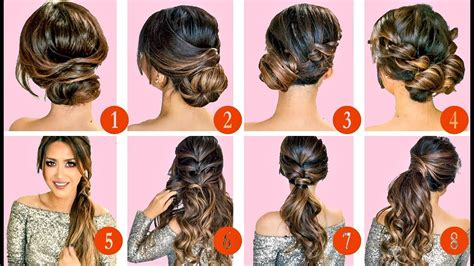10 hairstyles updos easy hairstyle tutorial for medium hair