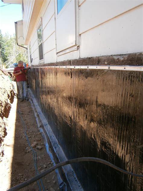 exterior basement waterproofing membrane dbs residential solutions foundation repair photo album piering and exterior waterproofing