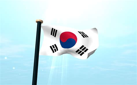 wallpaper 3d korea south korea flag 3d wallpaper android apps on google play