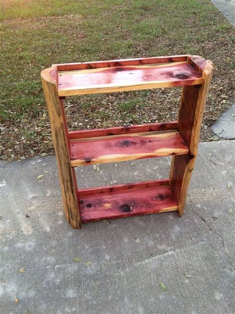 shelf cedar bookcase cedar wood projects woodworking