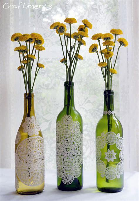 tutorial decoupage botol basteln mit tortenspitze marmeladengl 228 ser dekorieren u v m