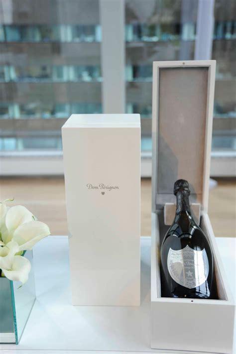 Wedding Box Dom Perignon by Dom P 233 Rignon Wedding Features A Personalized Label Popsop