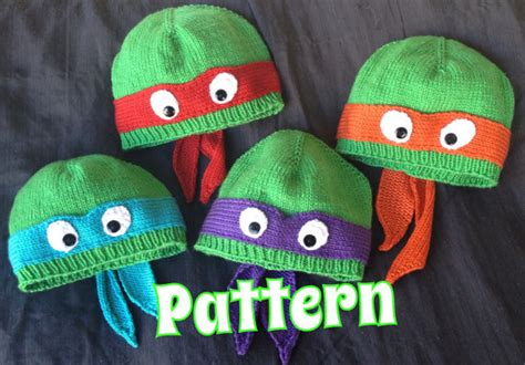 knitting pattern for ninja turtles pattern only hand knit turtle hat with ribbed or rolled