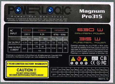 Power Supply Powerlogic Magnum Pro 450w power logic magnum pro 315 power supply review