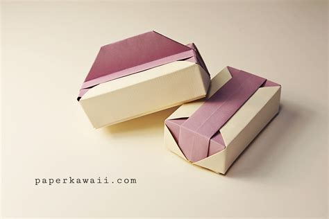 Folded Paper Boxes - origami gift box tutorial paper kawaii