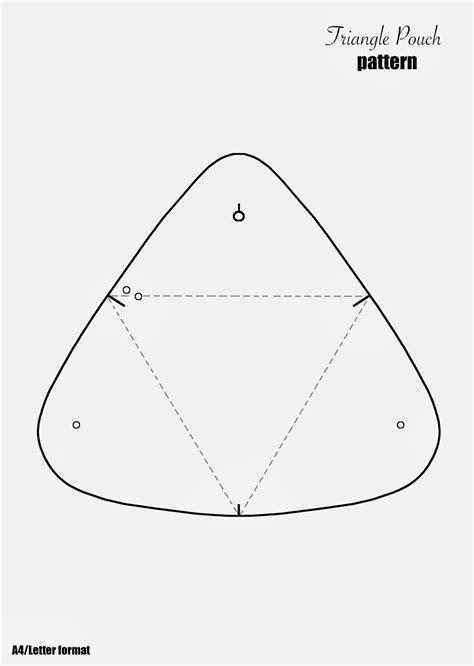pattern triangle free diy triangle leather pouch fashionrolla diy fashion