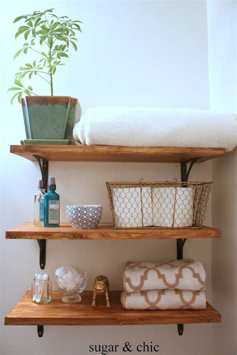 Diy Shelves For Bathroom Pinterest