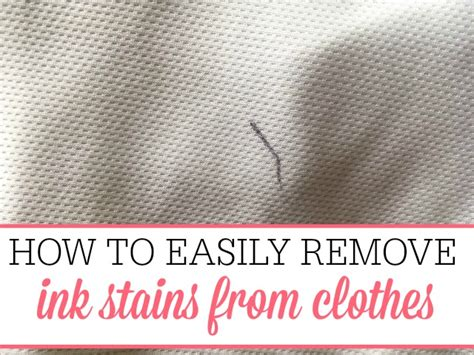 how to remove ink stains from clothes frugally blonde