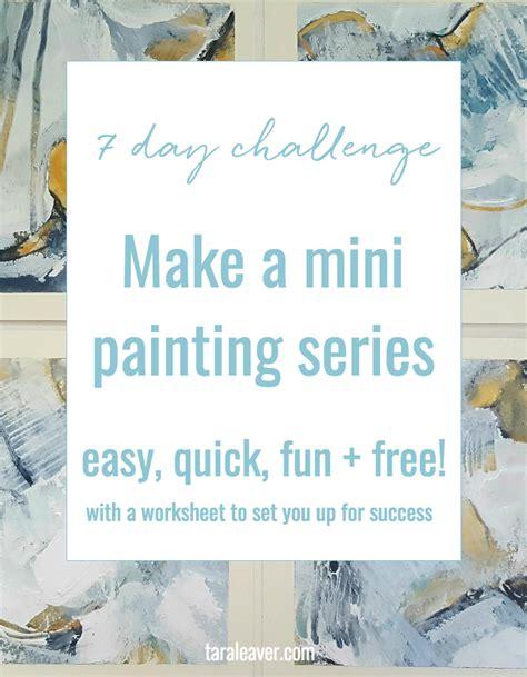 Make A Mini Book Challenge by Make A Mini Painting Series A 7 Day Challenge Tara