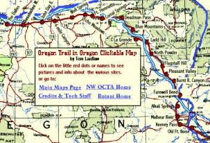 map of oregon trail oregon trail in oregon clickable map