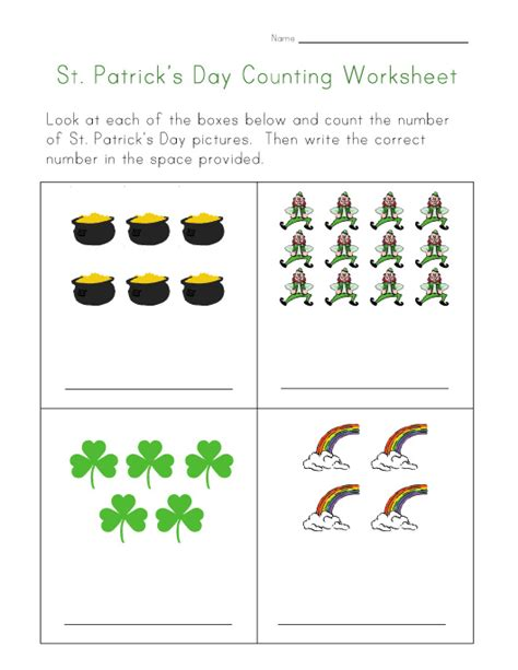 s day worksheet st s day counting practice worksheet