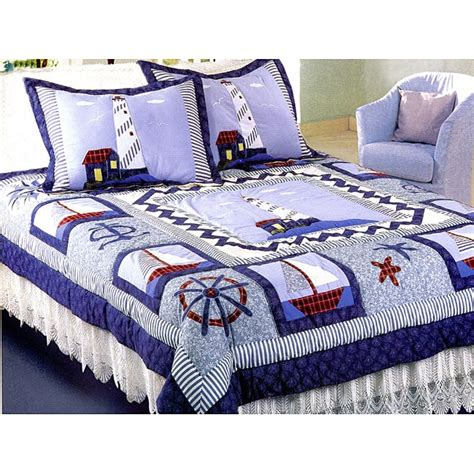 Lighthouse Comforters by Greenland Home Fashions New Lighthouse Patchwork Quilt Set